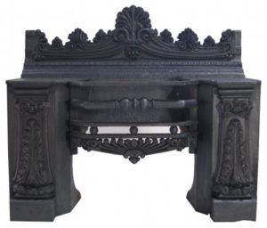 A Large Regency Cast Iron Hob Grate
