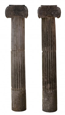 Two Reclaimed Stone Column Pilasters