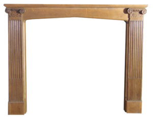 An English Arts and Crafts Style Oak Fireplace