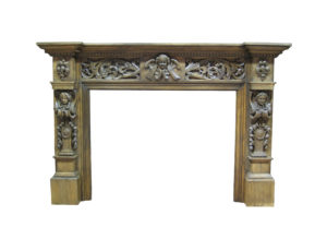 A Large and Imposing English Antique Oak Chimneypiece