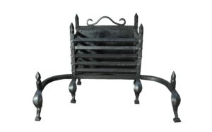 An Antique Wrought Iron Fire Basket