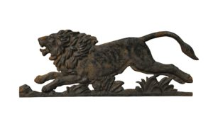 A Victorian Cast Iron Plaque of a Lion