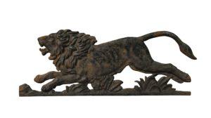 A Victorian Cast Iron Plaque of a Lion