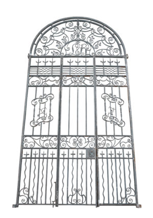 An Impressive set of Antique Wrought Iron Gates