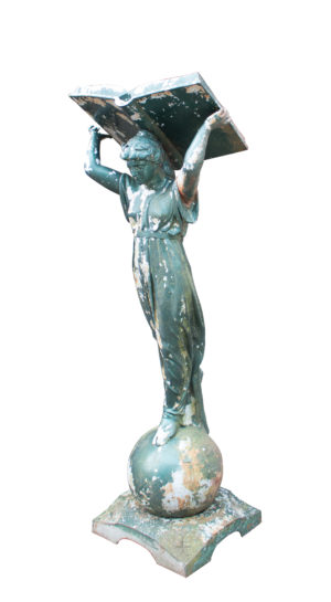 Antique Lectern in The Form of a Woman Holding Aloft The Book of Knowledge