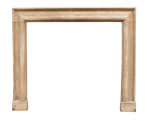 A Georgian Style Fossilised Limestone Bolection Fire Surround