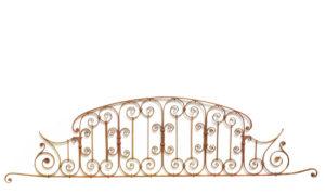 An English Antique Wrought Iron Gate Overthrow