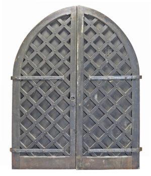 Pair of Oversized Oak Medieval Style Castle Doors