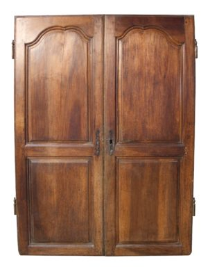 A Set of Antique French Walnut Cupboard Doors