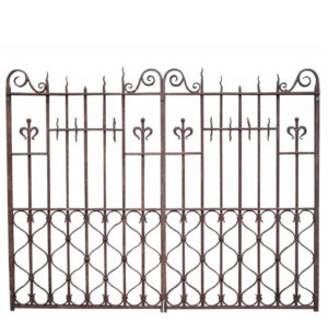 Pair of Reclaimed English Wrought Iron Driveway Gates