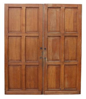 A Pair of Reclaimed Oak Six Panel Doors