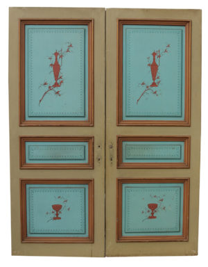A Set of Antique Hand Painted Double Doors