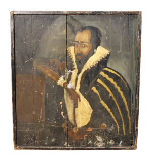 19th Century Hand Painted Pub Sign Depicting Sir Francis Drake