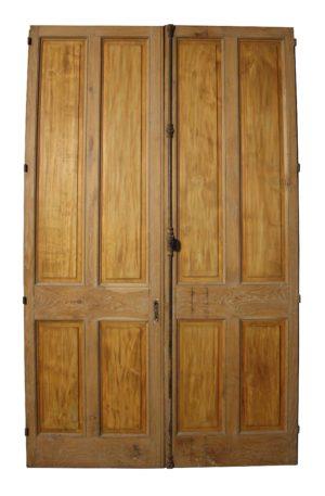 A Set of Antique Oak Room Dividers or Double Doors