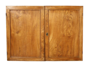 A Pair of 18th Century English Elm Cupboard Doors