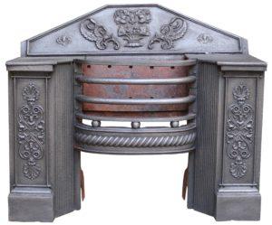 Large Georgian Cast Iron Hob Grate