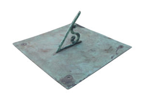 An Antique English Bronze Garden Sundial