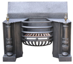 A Large Antique George III Cast Iron Hob Grate