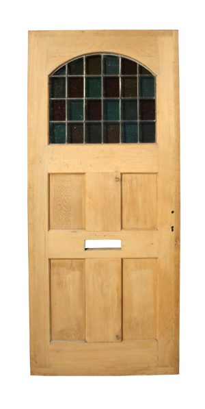 A Reclaimed Oak and Stained Glass Front Door
