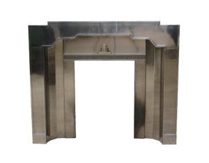 An Unusual Original Art Deco Stainless Steel Fireplace