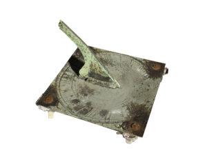 A Georgian Square Bronze Sundial