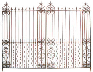 A Pair of Grand Wrought Iron Driveway Gates 12'7″ (385 cm)