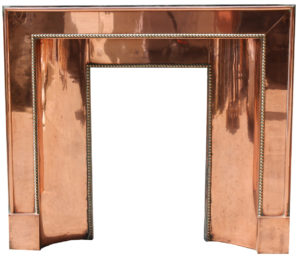 Art Deco Copper and Brass Fireplace