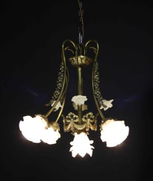 An Antique French Four Branch Chandelier