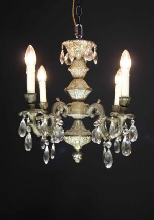 A Reclaimed Four Branch French Chandelier