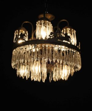 An Antique French Waterfall Chandelier