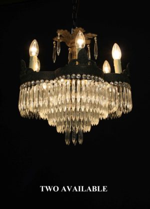 Two Antique French Waterfall Chandeliers