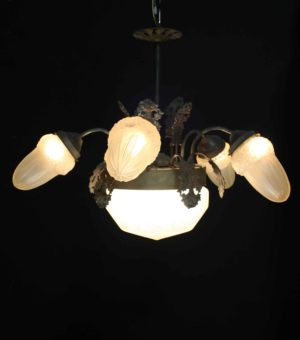 A Reclaimed Five Branch Pendant Light