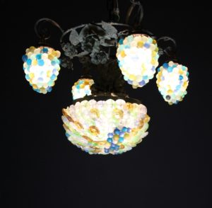 A Vintage Four Branch French Grape Chandelier