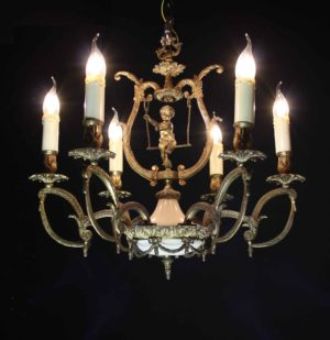 A Reclaimed Six Branch French Chandelier