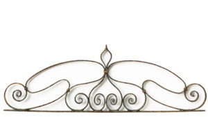 A Reclaimed Wrought Iron Gate Overthrow