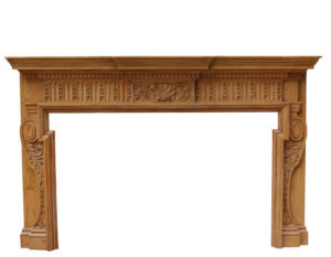 An Antique Georgian Style Carved Pine Chimneypiece