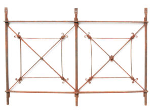 A Decorative Antique Wrought Iron Panel