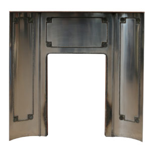 An Antique Brass and Steel Fire Insert
