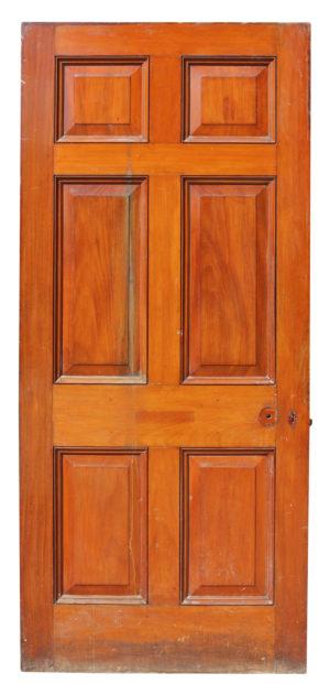 A 19th Century Mahogany Six Panel Door