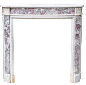 French Empire Style Fleur de Pesco Marble Chimneypiece
