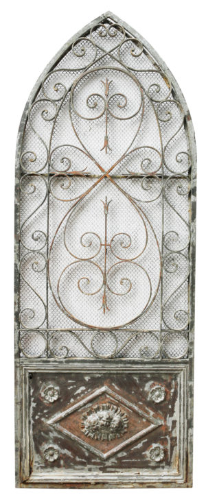An Antique Wrought Iron Arched Side Gate