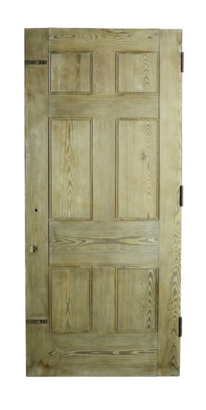 A Reclaimed Six Panel Interior or Exterior Pine Door (20 Available)
