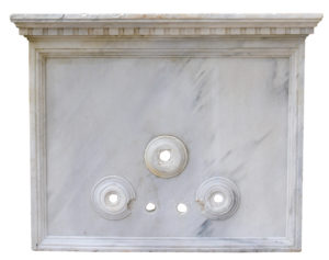 18th Century Italian Carrara Marble Wall Fountain