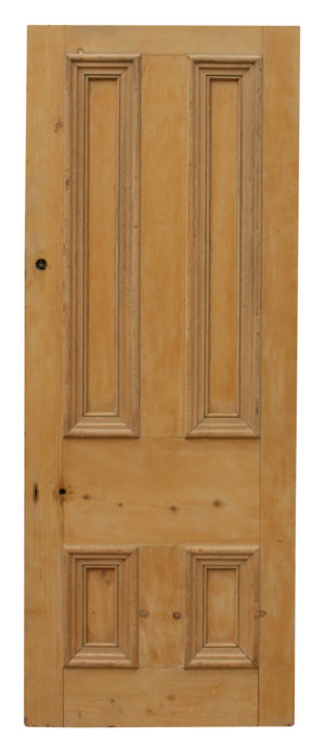 A Salvaged Pine Front Door