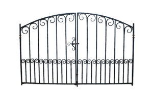 A Pair of Antique Wrought Iron Driveway Gates