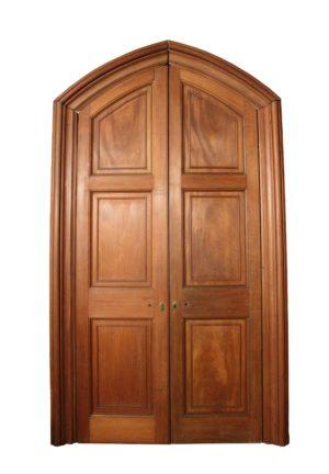 A Set of Antique Mahogany Double Doors