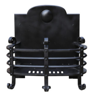 A Victorian Gothic Style Wrought Iron Fire Grate