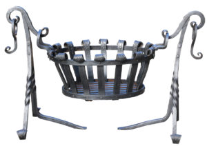A Reclaimed Wrought Iron Oval Fire Basket