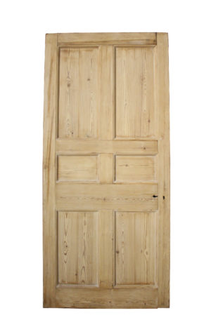 Antique Stripped Pine Six Panel Door