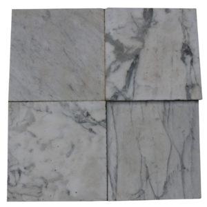 12m2 Antique Reclaimed Carrara Marble Floor Tiles Circa 1785